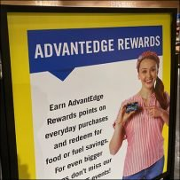 AdvantEdge Rewards Freestanding Sign