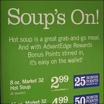 Soups-On Freestanding Vertical Sign