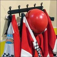 Kid-Size Racing Gear Coat Rack