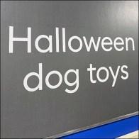 Disney Halloween Nightmare Dog Toy EndcapDisney Halloween Nightmare Dog Toy Endcap