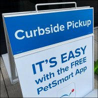 Curbside Pickup Sidewalk Sign Flagman