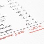 Haushaltsbuch führen
