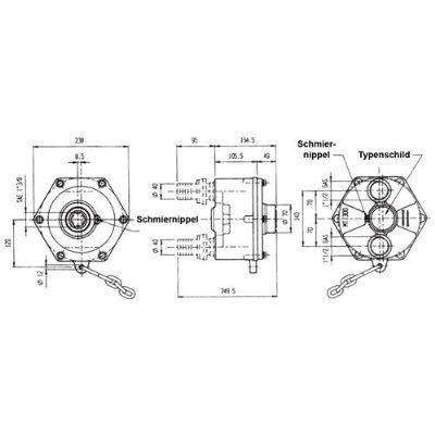 Zapfwellenpumpe Zapfwellenaufsteckpumpe Pumpe MT300