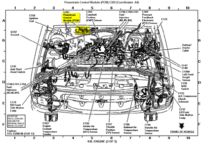 ford explorer pcm location Questions & Answers (with