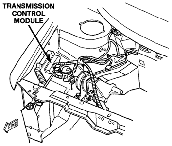 chrysler transmission control module location Questions