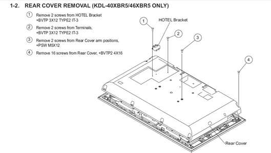 Sony BRAVIA diagram back tv Questions & Answers (with