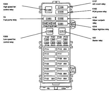 2001 Ford Taurus Se Fuse Box Diagram
