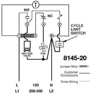 Trying to replace a 8045-20 w/ 8145-20 need wiring info