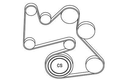 Pontiac Grand Am serpentine belt diagram 4 cylinder
