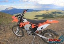 KTM 450 XC-F Cuchara Recreation Area Distant Peak