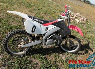 1997 Honda CR250 right Side