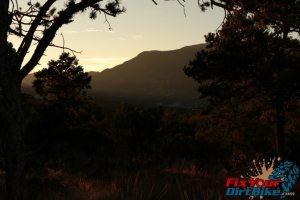 Cedro Peak North Mountain Sunset
