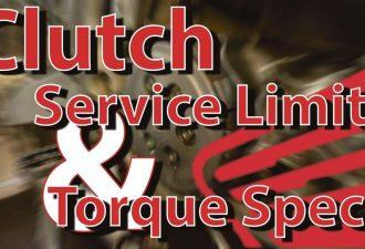 1997-2001 Honda CR250 Clutch Service Limits and torque specs