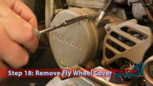 Step 18: Remove Flywheel cover