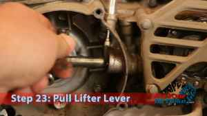 Step 23: Pull Lifter Lever