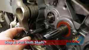 Step 2: Pull Shift Shaft