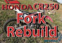 1997-2001 Honda CR250 Showa 47mm Fork Rebuild