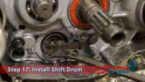 Step 17.1: Install Shift Drum