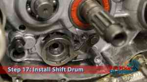 Step 17.3: Install Shift Drum