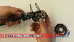 Step 19: Measure Idle Gear