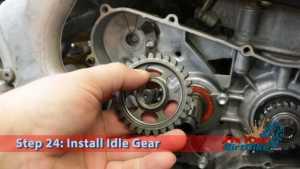 Step 24.1: Install Idle Gear