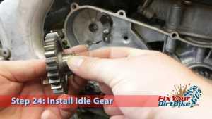 Step 24.2: Install Idle Gear