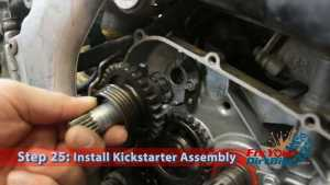 Step 25: Install Kickstarter Assembly