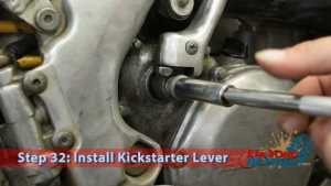 Step 32: Install Kickstarter Lever