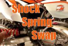 2014 KTM 300 XC-W Rear spring swap 1