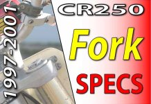 1997 -2001 Honda CR250 - Service Specifications - Fork Specifications
