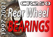 1997 - 2001 Honda CR250 - How To Change Rear Wheel Bearings Feaured Image