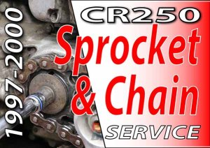 1997 - 2001 Honda CR250 -Sprocket & Chain Service