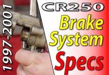 1997 - 2001 Honda CR250 - Brake System Specifications
