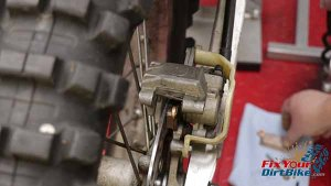 1997 - 2001 Honda Cr250 - Rear Caliper - Removal - Remove Brake Pads