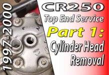 1997 - 2001 Honda CR250 - Top End Service - Part 1 - Cylinder Head Removal