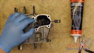 1997 - 2001 Honda CR250 - Top End Service - Part 10 - Install Valve Shaft