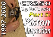 1997 - 2001 Honda CR250 - Top End Service - Part 5 - Piston Inspection