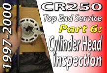 1997 - 2001 Honda CR250 - Top End Service - Part 6 - Cylinder Head Inspection