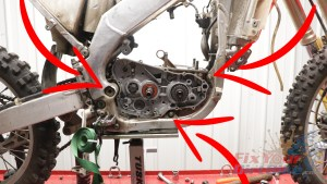 1. Two Mounting Bolts and Swingarm Pivot Bolt