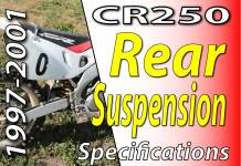 1997 -2001 Honda CR250 - Rear Suspension Specifications Featured