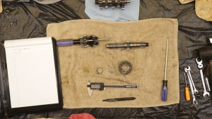 4 - Inspect And Measure Countershaft Gear Stack