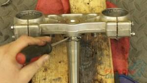 10 - Separate Cut Bearing From Steering Stem