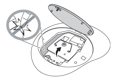 Install a new lamp for the BenQ MP612/MP612c projector