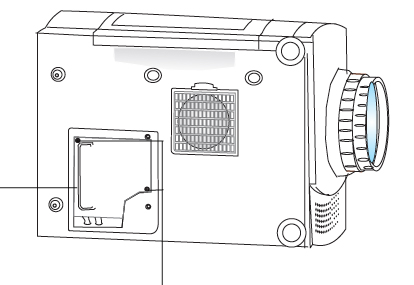 Replace the Optoma EP610H projector lamp