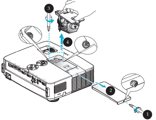 NEC NP-PE401H projector lamp