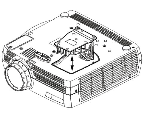 Replace the BenQ W5000 projector lamp in 3 easy steps