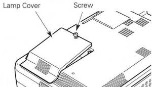 Install a new Sanyo PLC-XU47 / PLC-XU48 projector lamp in