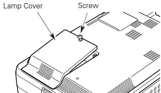 Six steps for replacing the Sanyo PLV-WF10 projector lamp
