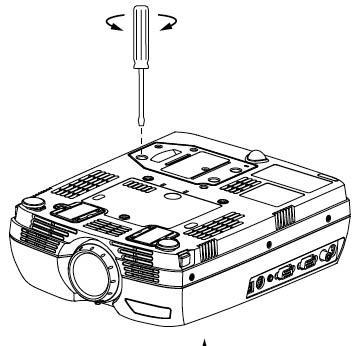 Replacing the ASK C60 XGA projector lamp in 3 easy steps