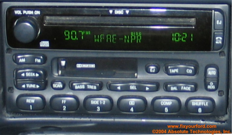 2001 Ford Ranger Car Stereo Wiring Diagram